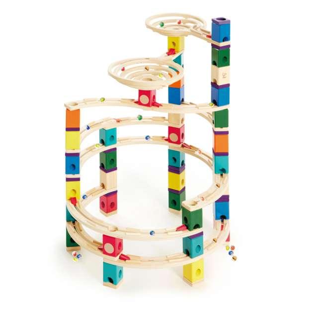 HAP-E6008-U-A Hape Quadrilla Cyclone Wooden Marble Run Maze Toy Construction Set (Open Box) 1