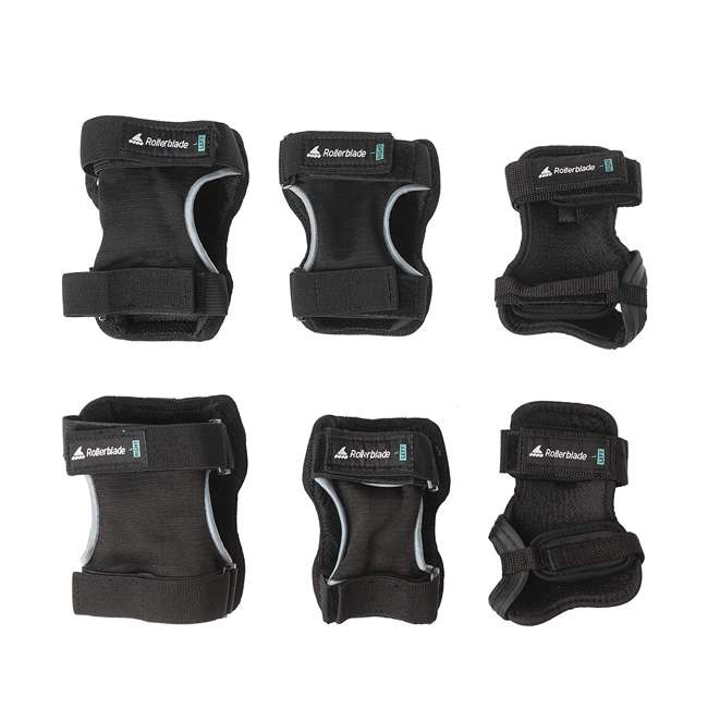 069P0100100-M Rollerblade Protective Skate Gear w/ Wristguards, Knee Pads, & Elbow Pads, M 1