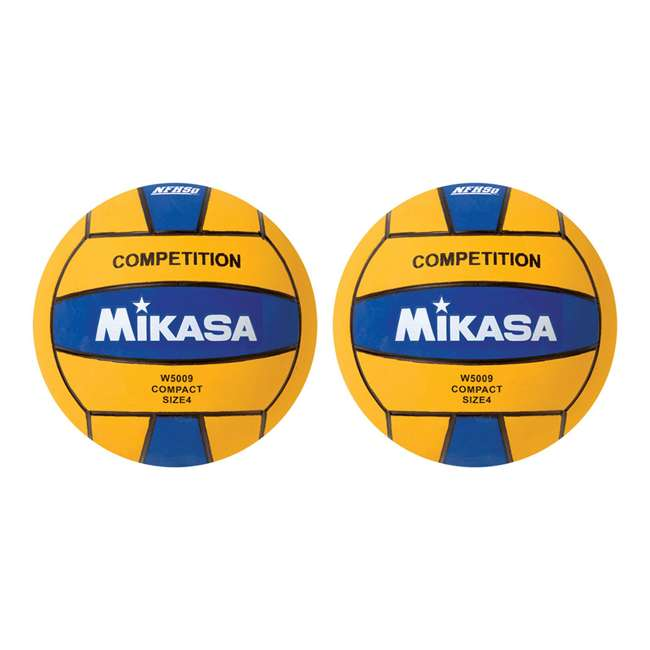 W5009BLU Mikasa USA Size 4 Mini Water Canoe Polo Ball, Blue (2 Pack)