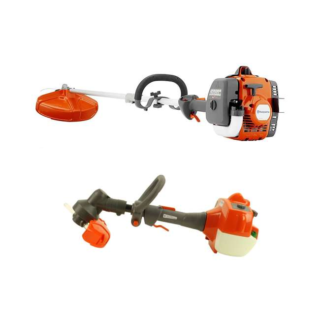 HV-TR-967680501 + HV-TOY-585729102 Husqvarna 129LK Gas Powered Weed Trimmer & Battery Operated Toy Weed Trimmer
