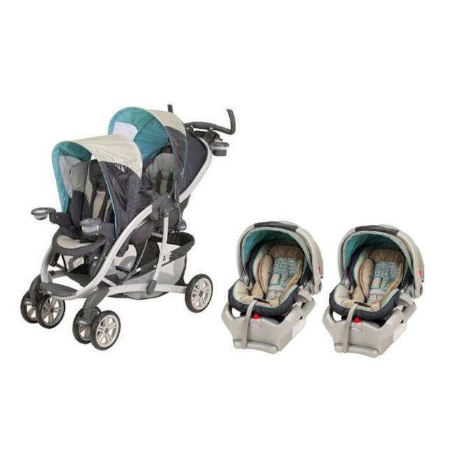 Twin Prams Travel Systems: Graco Quattro Tour Duo Stroller Travel System & Twin
