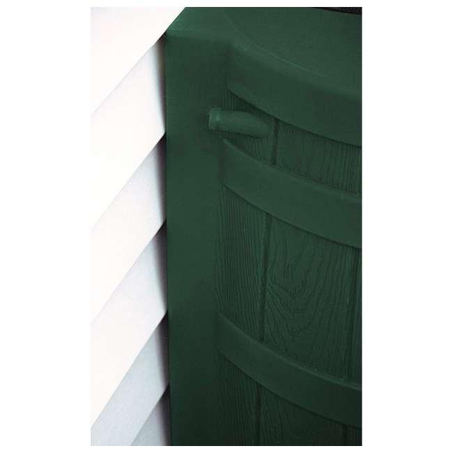 RW50-DIV-GRN Good Ideas Rain Wizard Rain Collection Barrel 50-Gallon w/ Diverter Kit, Green 3