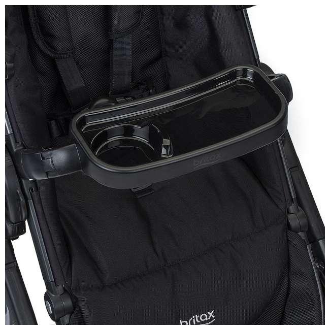 U911933 + S03634300 Britax Navy Folding Travel Canopy Baby Stroller with Black Snack Tray Accessory 5