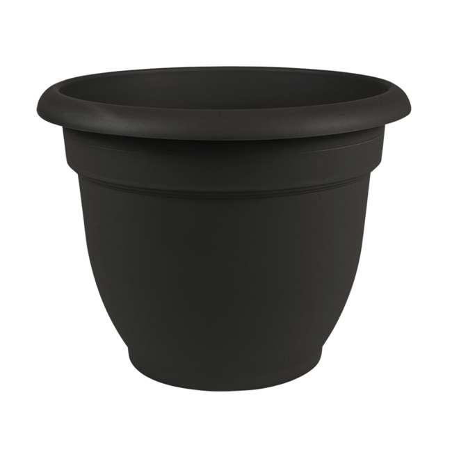 3 x 20-56910 Bloem Ariana 10 Inch Black Indoor & Outdoor Self Watering Planter Pot (3 Pack) 1
