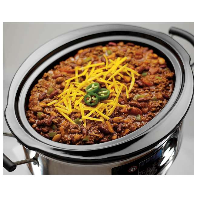 33957 + SLOWCOOK150 Hamilton Beach 5 Quart Programmable Stay or Go Slow Cooker & 150 Recipe Cookbook 7