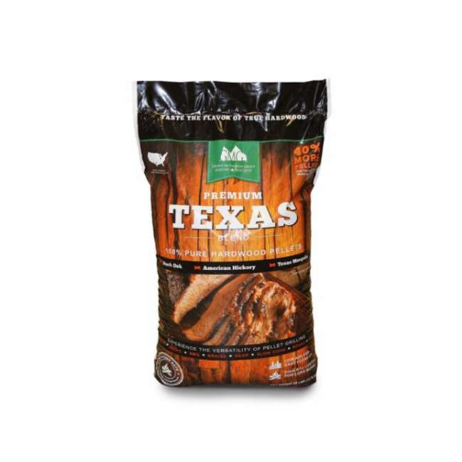 3 x GMG-2004-TEXAS Green Mountain Grills Premium Texas Pure Hardwood Outdoor Grilling Pellets (3) 1