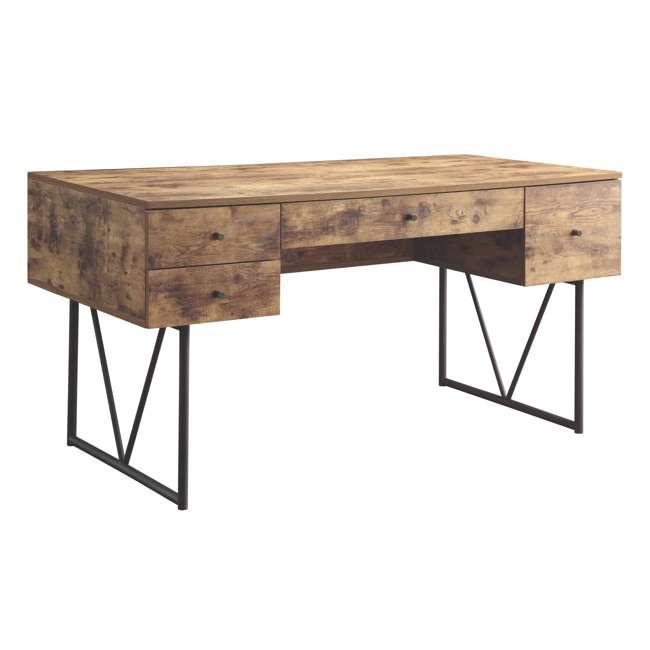 CH-800999-U-B Coaster Home Furniture Barritt 4 Drawer Writing Desk, Antique Nutmeg (Used)