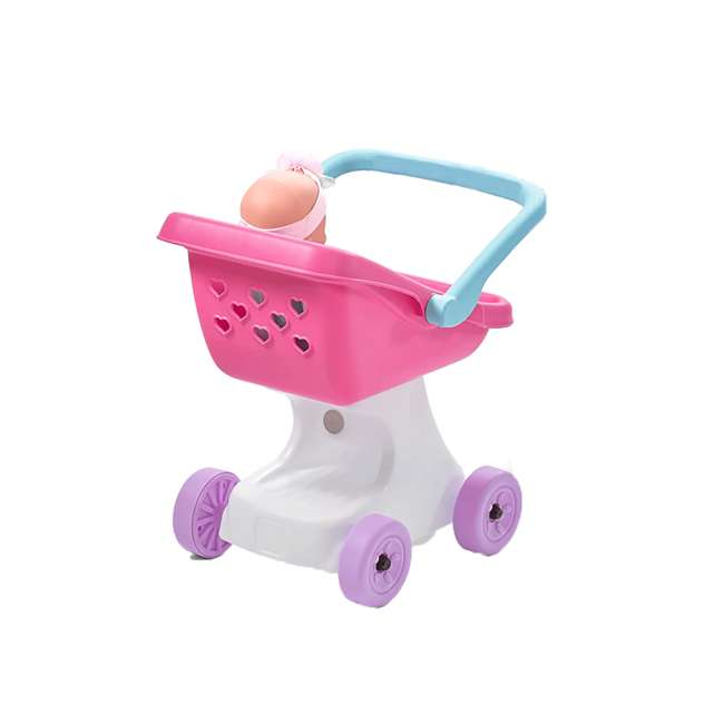 854100 Step2 Love & Care Baby Doll Kids Push Stroller Toy, Pink 3