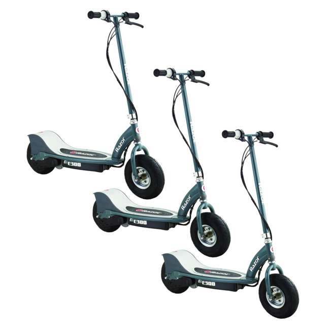 3 x 13113614 Razor E300 Electric Motorized Scooter, Gray (3 Pack)