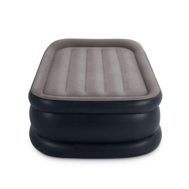 64131W Intex Deluxe Pillow Rest Air Mattress w/ Pump, Twin (2 Pack) 2