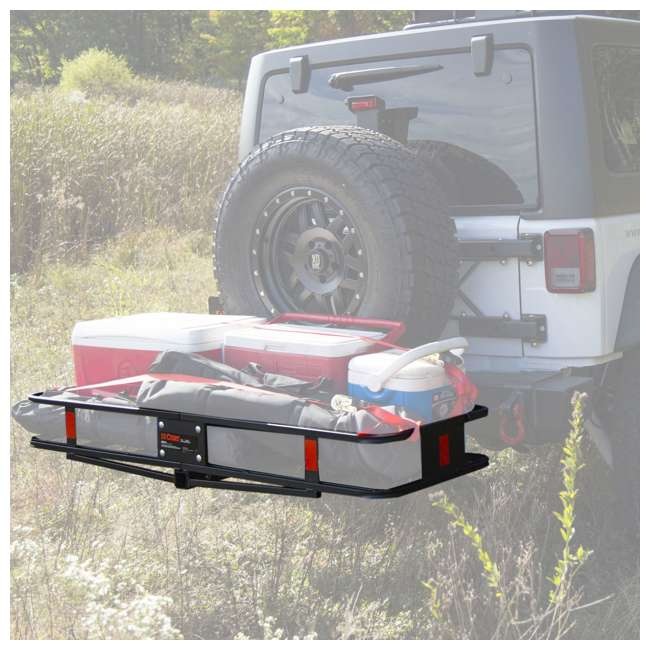 100T62 + CURT-18151 Curt Folding 60-inch Cargo Tray and 2 Rightline Gear Weather Resistant Dry Bags 9