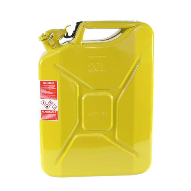 3011-WAV-OB Wavian 3011 5.3 Gallon 20L Authentic Fuel Can and Spout, Yellow(Open Box) 4