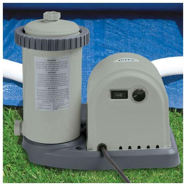 "26175EH + 28633EG Intex 18' x 48"" Above Ground Swimming Pool and 2500 GPH Cartridge Filter Pump 5"