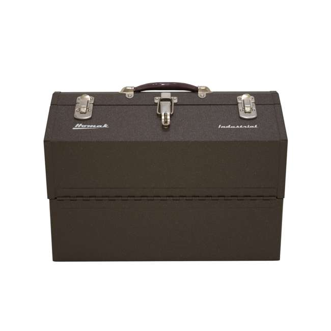 BW00210220 Homak BW00210220 Steel Industrial Expanding Cantilever 22 Inch Toolbox, Brown 1