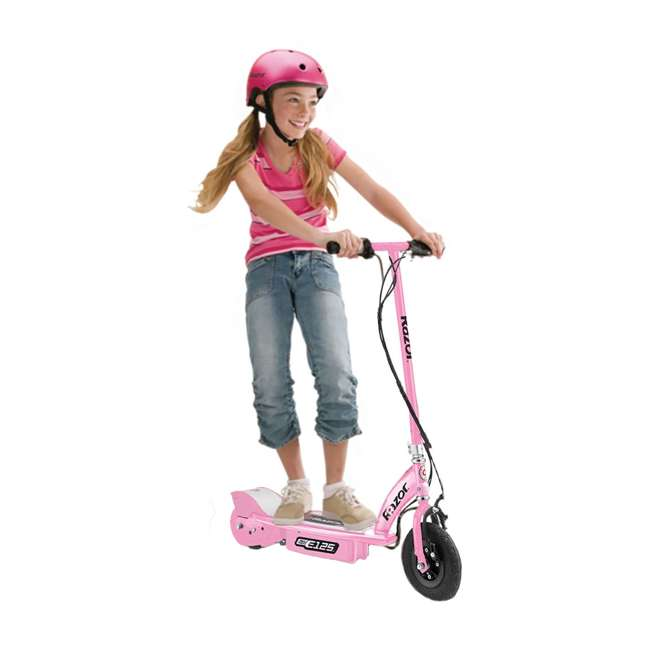 13111163 + 13111141 + 13125E-BK Razor E125 Motorized Rechargeable Electric Scooters, 1 Pink, 1 Blue, & 1 Black 5