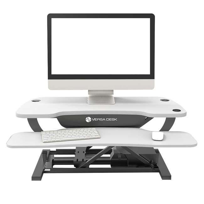 VT7643024-01-05 VersaDesk 30-Inch Power Pro Desktop Riser w/ Black Frame, White