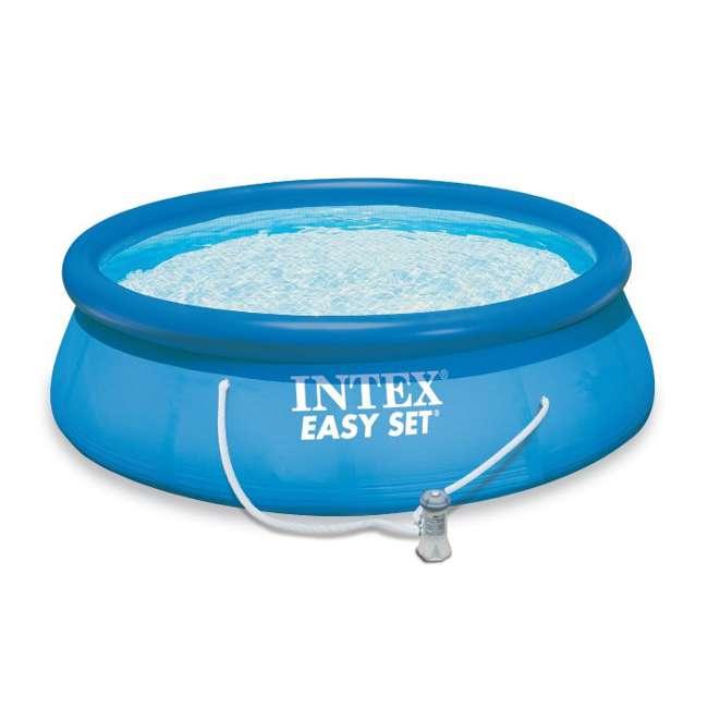 "28121EH-U-A Intex 10' x 30"" Easy Set Swimming Pool & 330 GPH Filter Pump (Open Box) (2 Pack) 1"