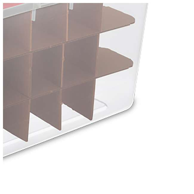 12 x 19096606-U-A Sterilite 48 Quart Holiday Christmas 45 Ornament Storage Box (Open Box)(12 Pack) 1