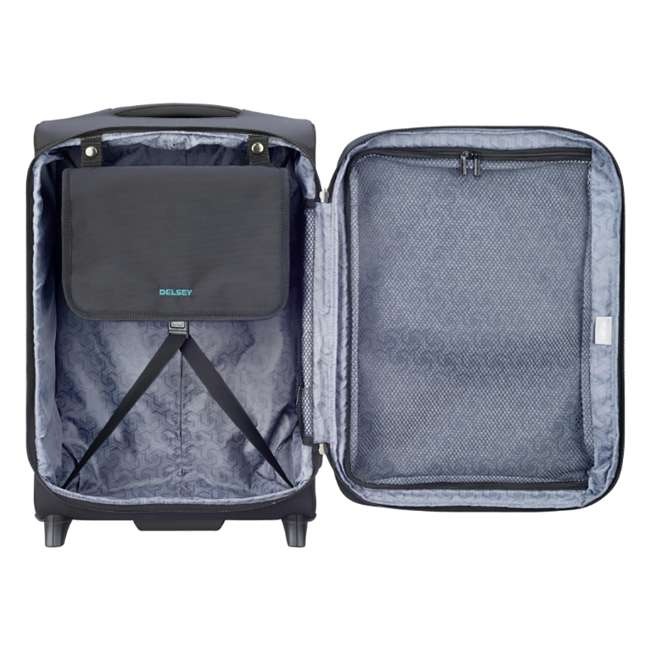 """40229172000 DELSEY Paris 20"""" Upright Expandable 2 Wheel Hyperglide Carry On Luggage, Black 3"""