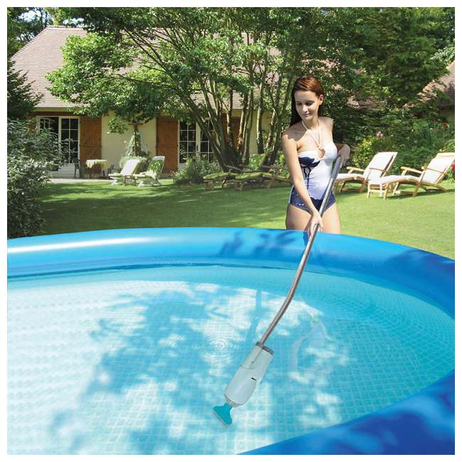 P4N01848B167 + EV05CBX Summer Waves 18 Foot Swimming Pool + Kokido Telsa 5 Pool & Spa Vacuum Cleaner 10