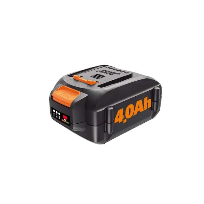 WA3578 Worx WA3578 20-Volt MaxLithium Power Share 4.0 Ah Rechargeable Battery, Black 1