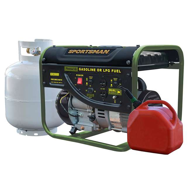 BFT-GEN4000DF Sportsman GEN2000DF 4000 Watt Portable Dual Fuel Generator, Black 4
