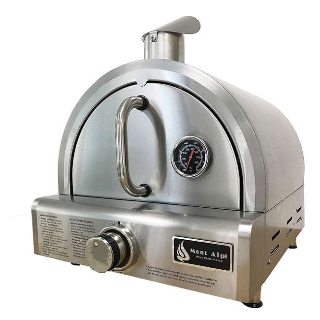 MAPZ Mont Alpi MAPZ Table Top Gas Stainless Steel Large Portable Pizza Oven Cooker 1