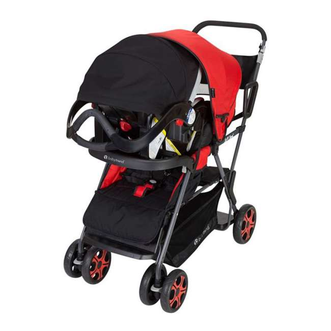 SS80A07A Baby Trend SS80A07A Sit N Stand Folding Compact Two Seat Baby Stroller, Red 3