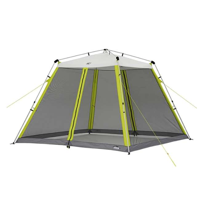 40057 CORE 10 x 10-Foot Instant Screen House Canopy Tent w/ Ground Stakes & Tie Downs