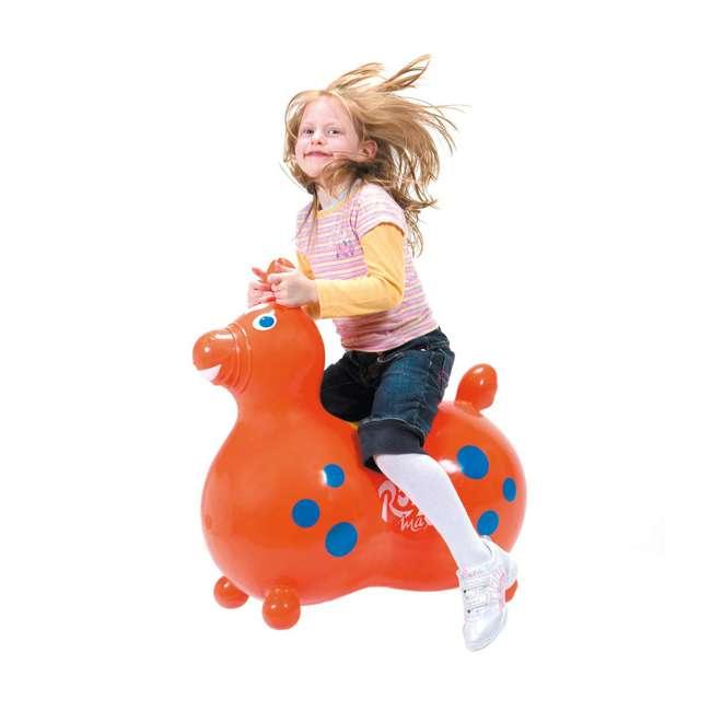 KET-8005 Gymnic 8005 Rody Horse Ride-On Vinyl Toddler Rocking Toy, Orange 4