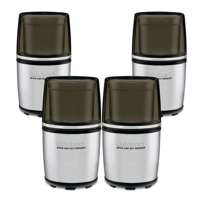4 x SG-10-RB Cuisinart Freshly Grounded Spice and Nut Grinder (4 Pack) (Certified Refurbished)