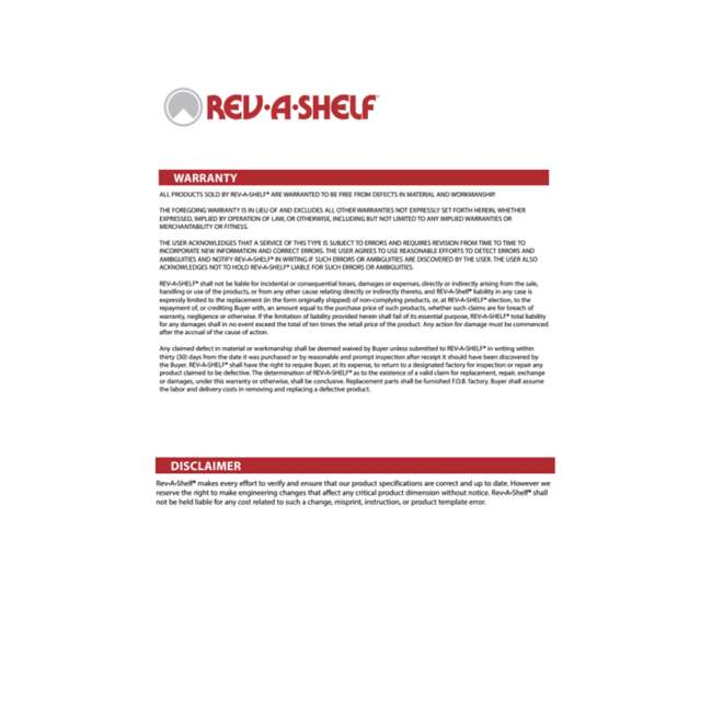 4WLS401-32-BS52 Rev-A-Shelf 4WLS401-32-BS52 32 Inch Wood Kidney Lazy Susan w/ Swivel Bearing 4