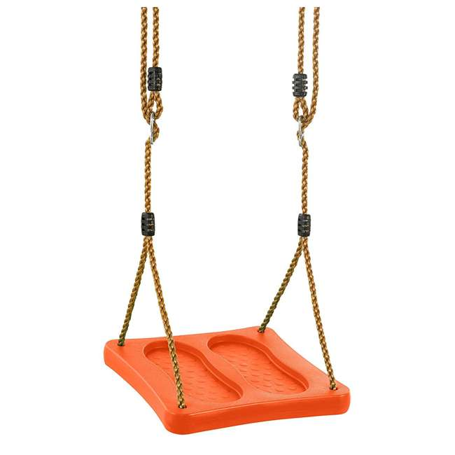 SWSSR-OR Swingan One of a Kind Pre-Assembled Standing Swing With Adjustable Ropes, Orange