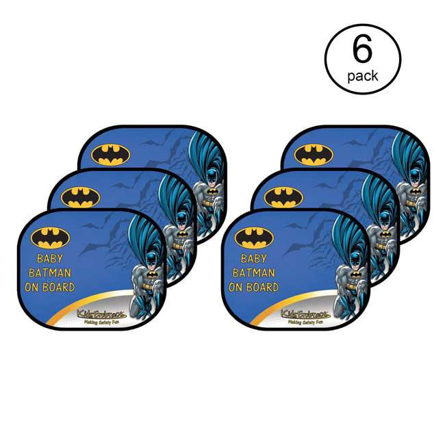 3 x KE-9001WSBAT Kids Embrace DC Comics Baby Batman On Board Window Shade (6 Pack)