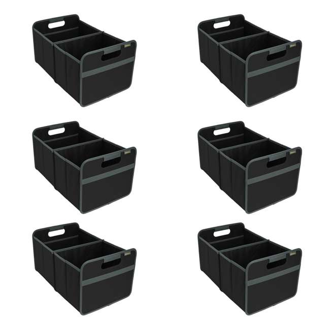 6 x A100001 Meori Classic 8-Gallon Large Storage Box, Lava Black (6 Pack)