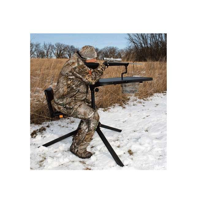 MUD-MSB500 Muddy Outdoors Xtreme Swivel Shooting Hunting Steel Benchrest w/ Gunrest, Black 2