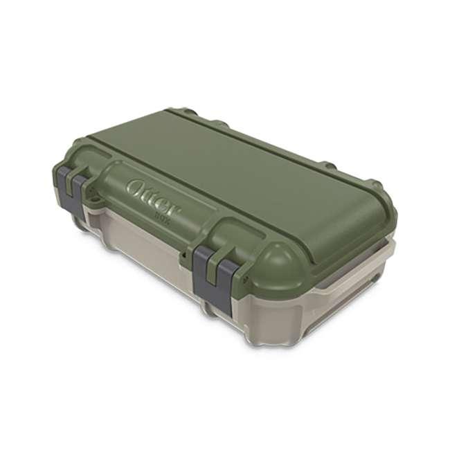77-54441 OtterBox 3250 Series 0.9 Liter Waterproof Storage Drybox, Ridgeline Green & Tan