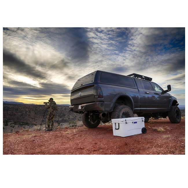 BFDB70WS-WH Big Frig Denali 70 Quart Insulated Wheeled Camp Cooler with Accessories, White 2