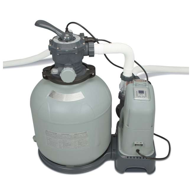 28679EG Intex Krystal Clear 2650 GPH Saltwater System & Sand Filter Pump