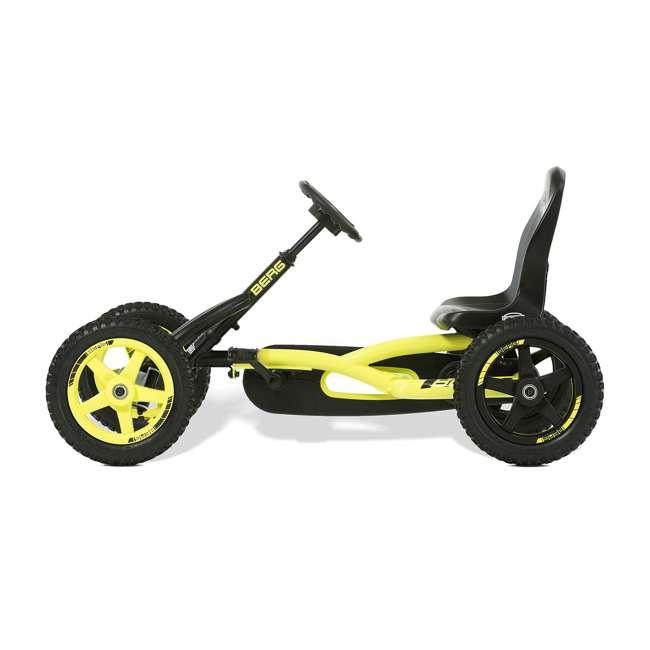 24.20.65.00 BERG Buddy Cross Kids Pedal Go Kart Ride On Toy w/ Axle Steering, Black & Yellow 2