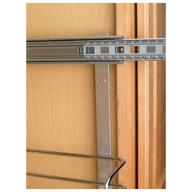 """5WB2-1222-CR Rev-A-Shelf 12"""" Wide 22"""" Deep Base Kitchen Cabinet 2 Tier Pull Out Wire Basket 4"""