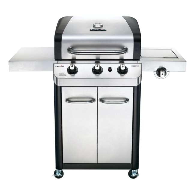 463372017-U-C Char Broil 3 Burner Stainless Steel 425 Square In Propane Gas Grill (For Parts)