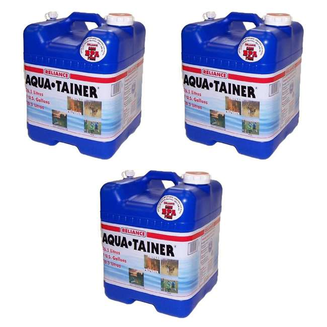 3 x 9410-24 Reliance Products Aqua Tainer 7 Gallon Drinking Water Storage Container Tank (3 Pack)