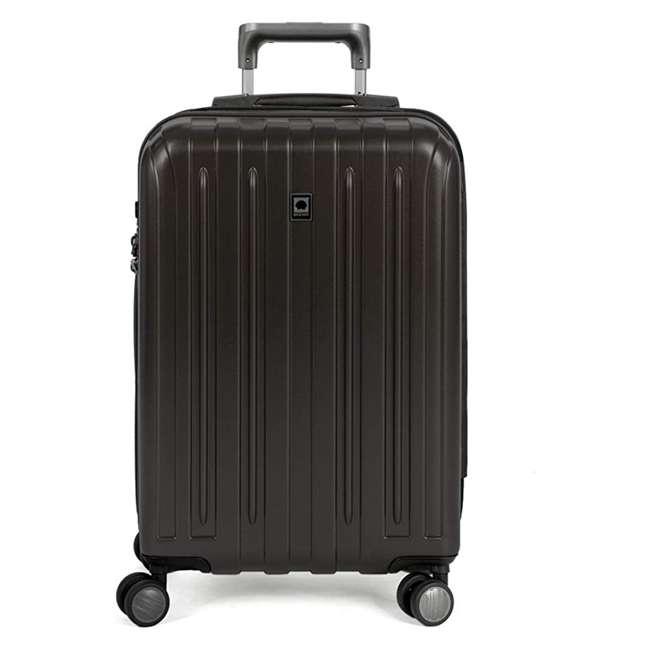 00207180000 DELSEY Paris Titanium Expandable CarryOn Spinner Rolling Luggage Suitcase, Black