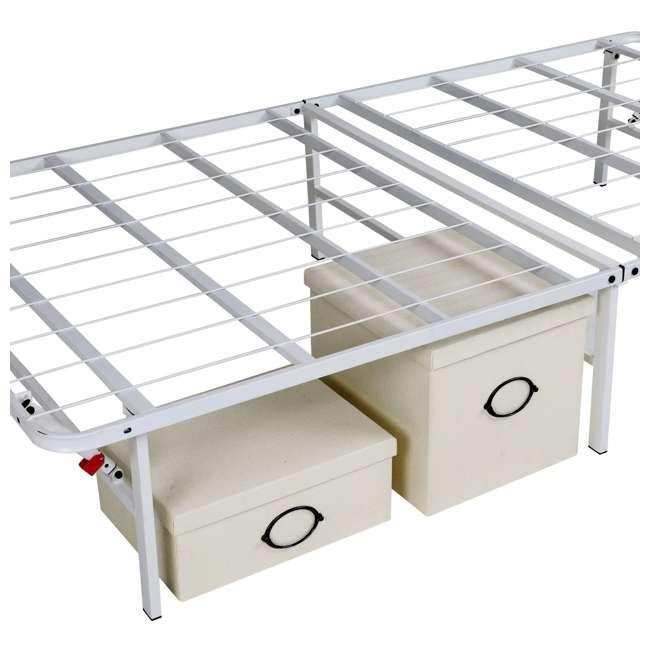 VMI-18QIB2-112-WT-U-A intelliBASE Bi-Fold Platform White Metal Bed Frame, Queen  3