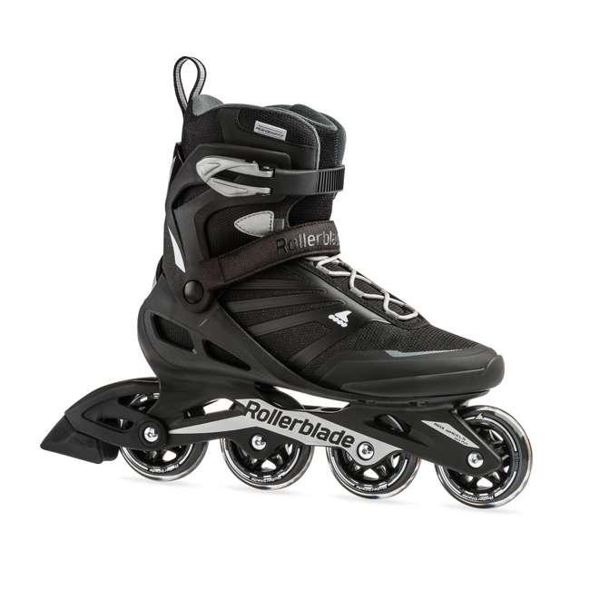 7958600816-9 Rollerblade Zetrablade Adult Mens Beginner Fitness Inline Skates, Size 9, Black
