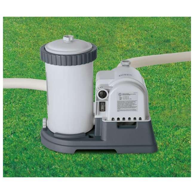 28633EG + 28000E Intex 2500 GPH Swimming Pool Filter Pump and Wall Mounted Surface Skimmer 5