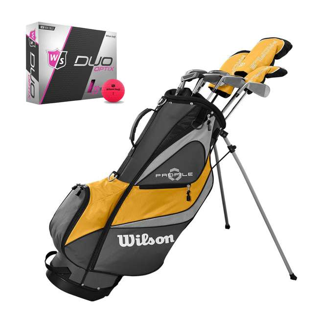 WGGC4370L + WGWP43500 Wilson Profile XD Men's RH Golf Club Complete Set and Balls