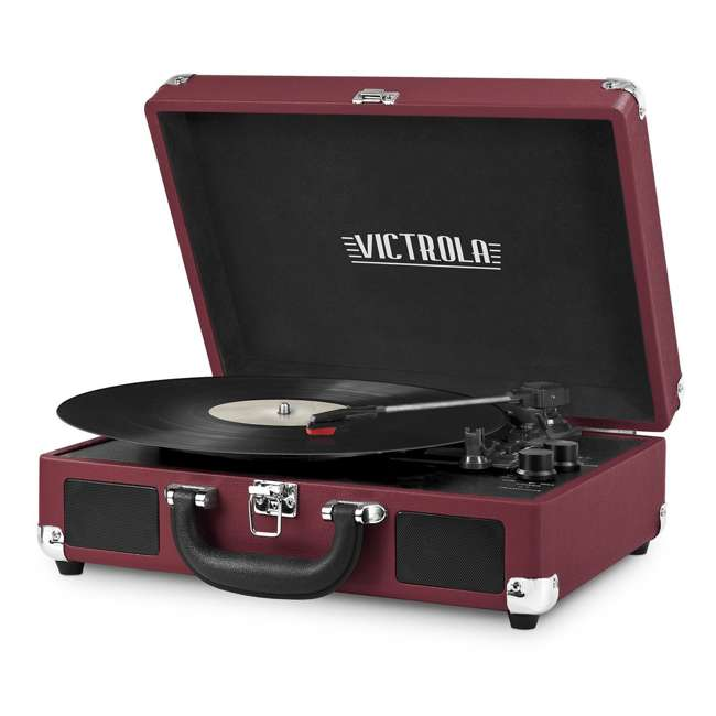 VSC-550BT-ML Victrola 3-Speed Bluetooth Suitcase Record Player, Marsala