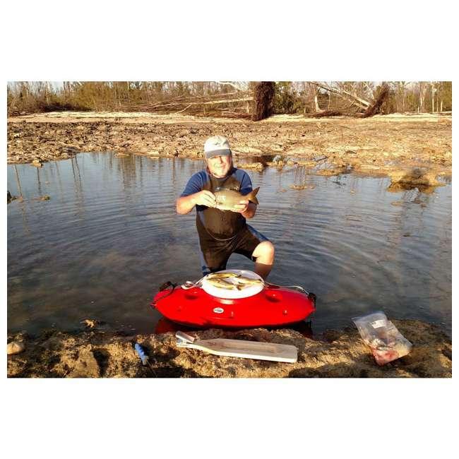 CK00227R-U-B CreekKooler Kayak or Canoe River Floating Beverage & Food Cooler, White (Used) 5